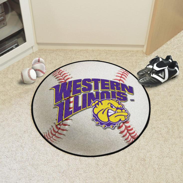"27"" Western Illinois University Baseball Style Round Mat"