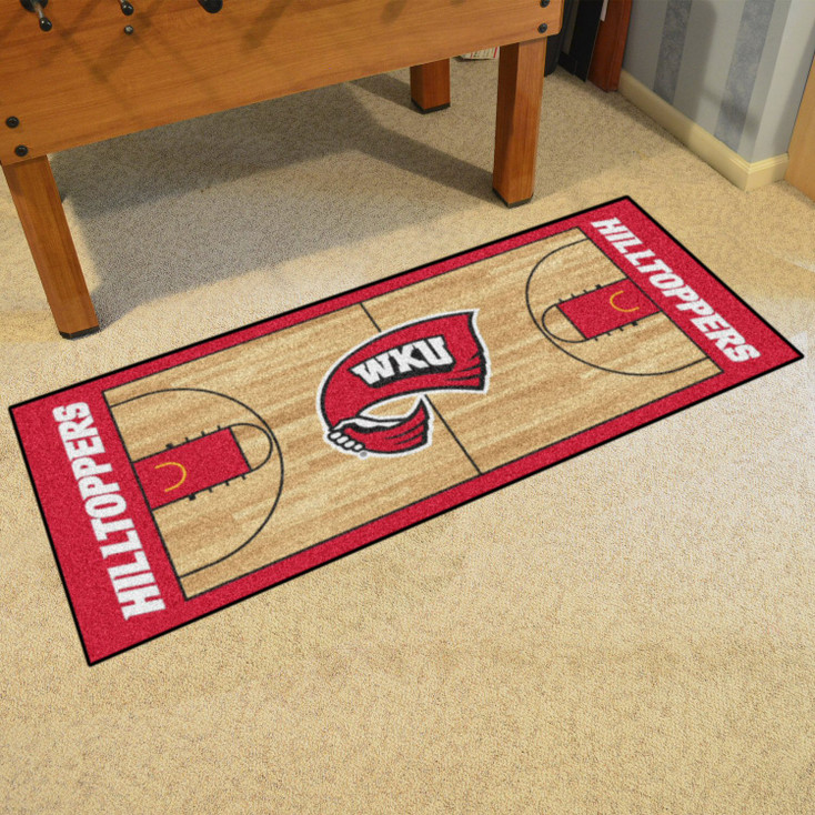 "30"" x 72"" Western Kentucky University NCAA Basketball Rectangle Runner Mat"