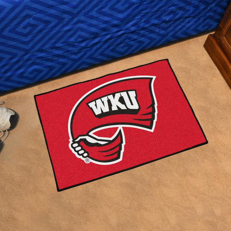 """19"""" x 30"""" Western Kentucky University Black Rectangle Starter Mat"""