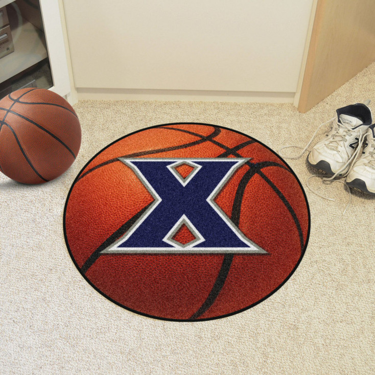 "27"" Xavier University Basketball Style Round Mat"