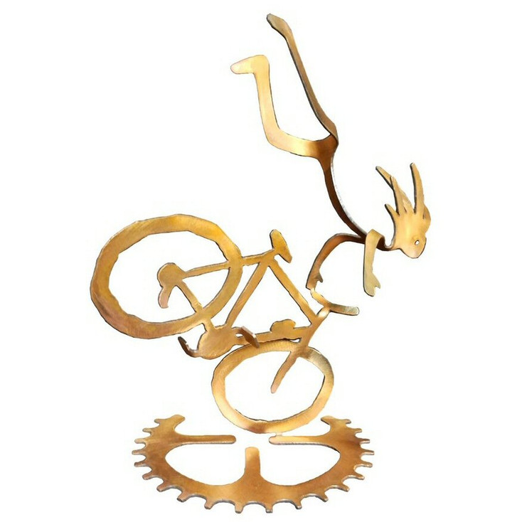 Kokopelli Endo Boy Bike Rider Rust Metal Sculpture