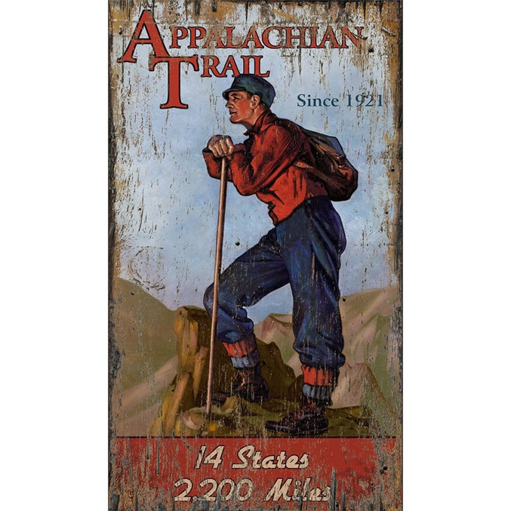 Custom Appalachian Trail Hiker Vintage Style Metal Sign