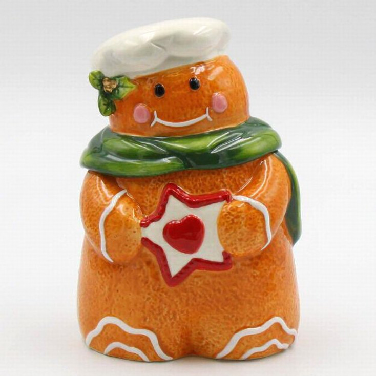 Gingerbread Man Candy Box Dishes, Set of 2