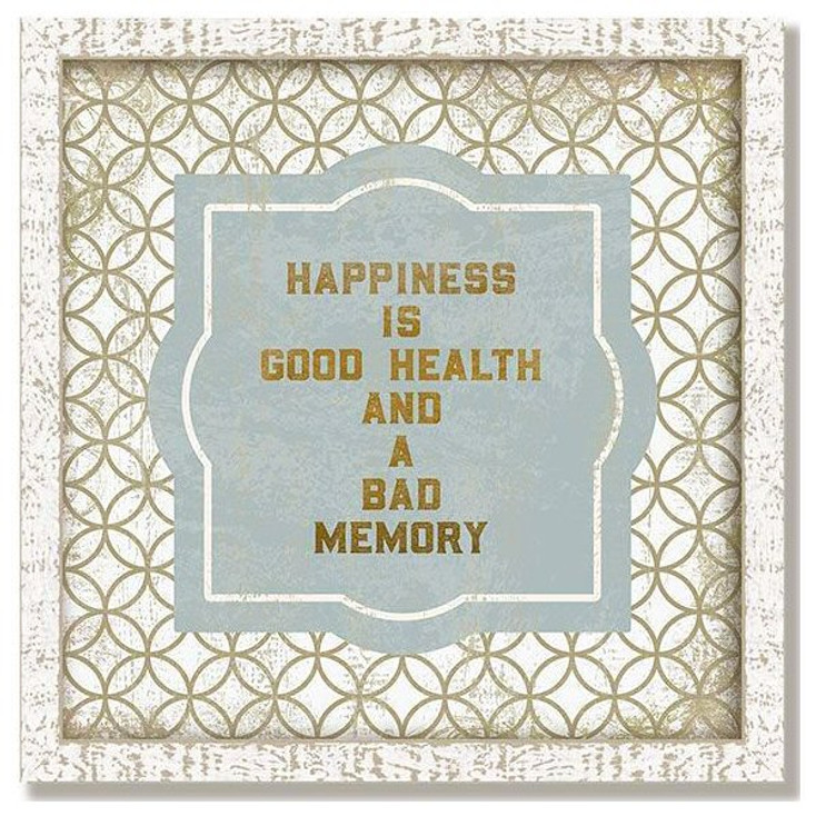 "Custom ""Good Health"" Inspirational Vintage Style Framed Wood Sign"