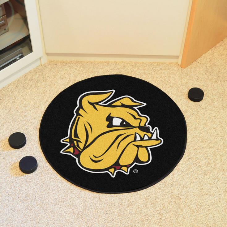 "27"" University of Minnesota-Duluth Puck Round Mat - ""Champ the Bulldog"" Logo"