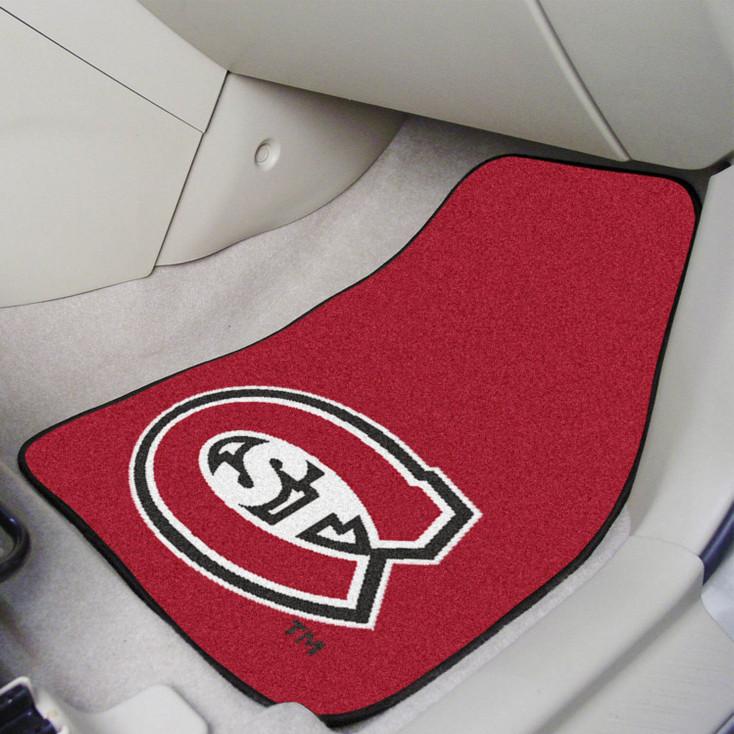 St. Cloud State University Red Carpet Car Mat, Set of 2
