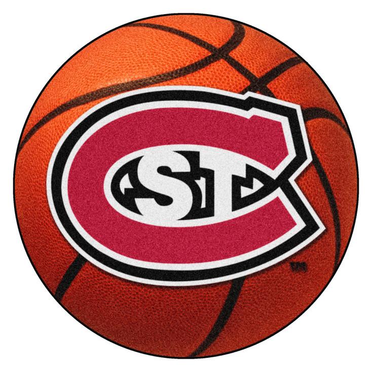 """27"""" St. Cloud State University Basketball Style Round Mat"""