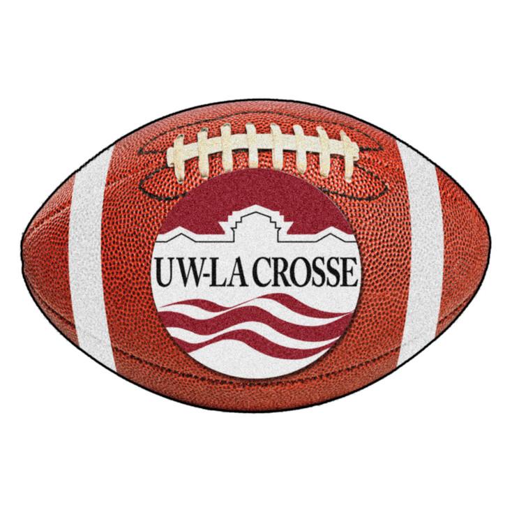"""20.5"""" x 32.5"""" University of Wisconsin-La Crosse Football Shape Mat"""