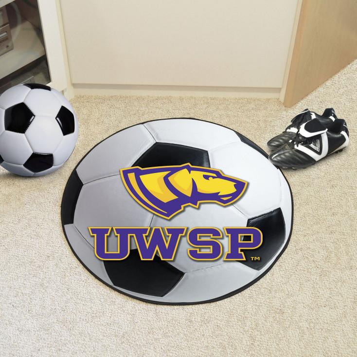 """27"""" University of Wisconsin-Stevens Point Soccer Ball Round Mat"""