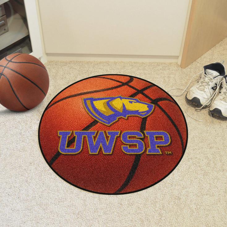 "27"" University of Wisconsin-Stevens Point Basketball Style Round Mat"