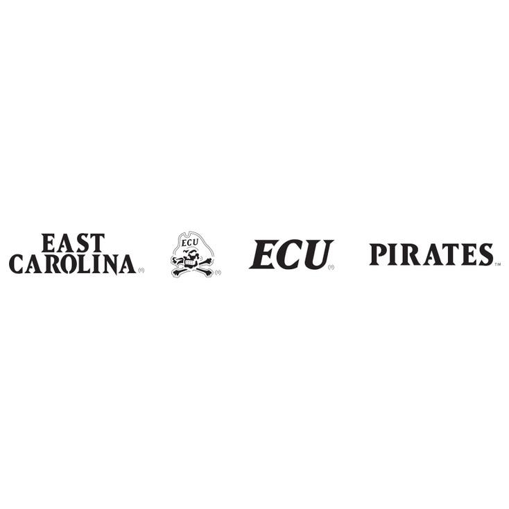 East Carolina University Pirates Metal Fire Pit Strip Details