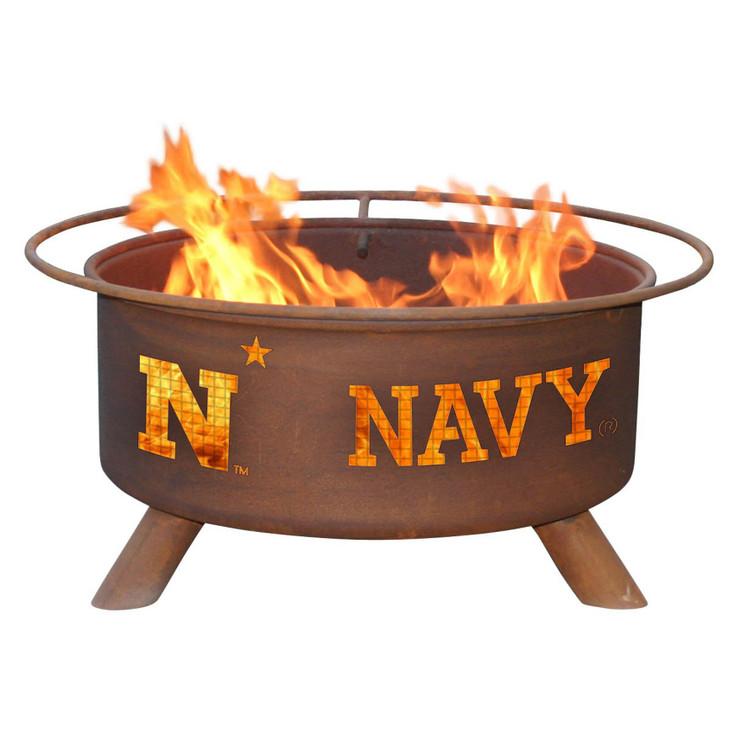 U.S. Naval Academy Midshipmen Metal Fire Pit