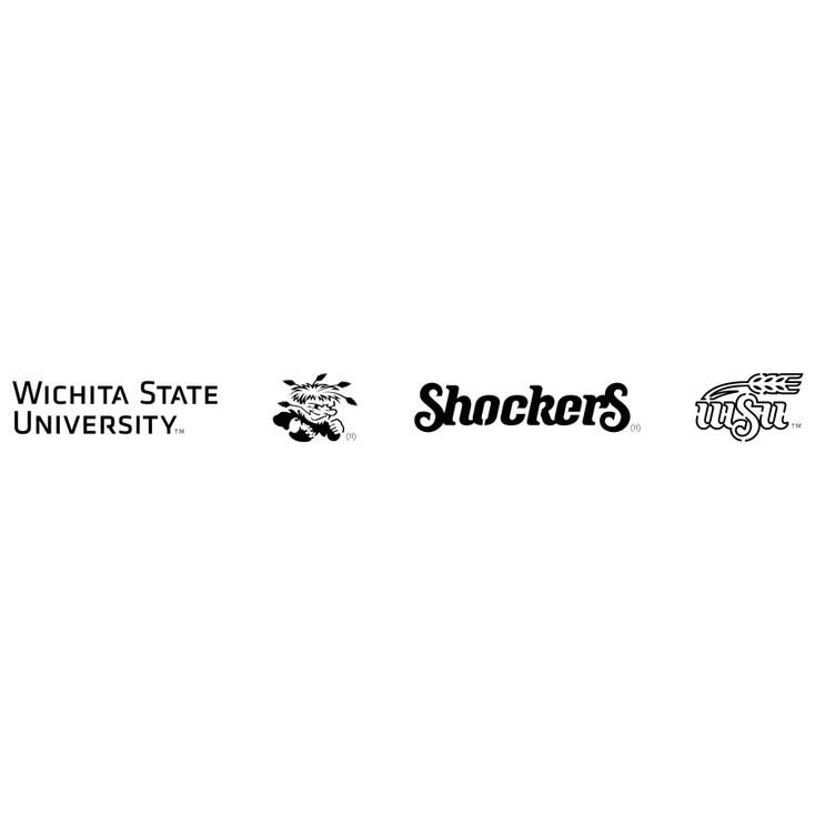 Wichita State University Shockers Metal Fire Pit Strip Details