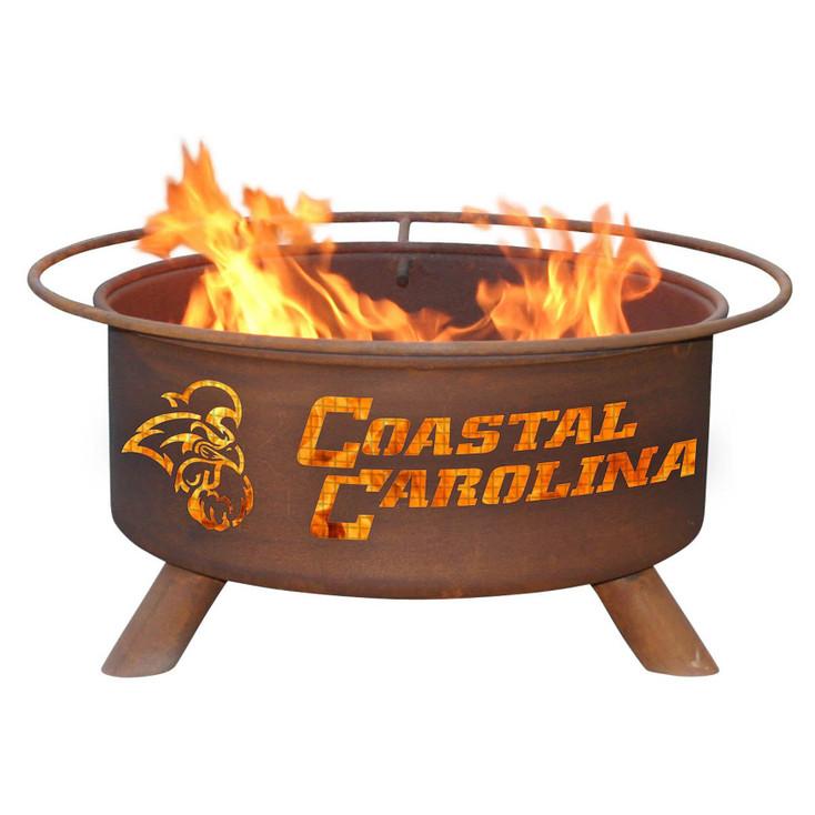 Coastal Carolina University Chanticleers Metal Fire Pit