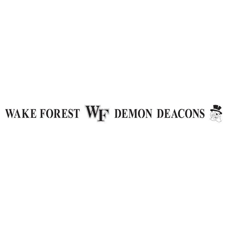 Wake Forest University Demon Deacons Metal Fire Pit Strip Details