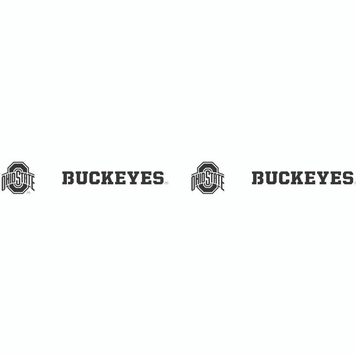 Ohio State University Buckeyes Metal Fire Pit Strip Details