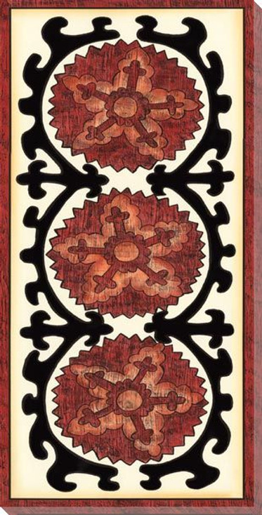 Suzani Panel I Wrapped Canvas Giclee Print Wall Art