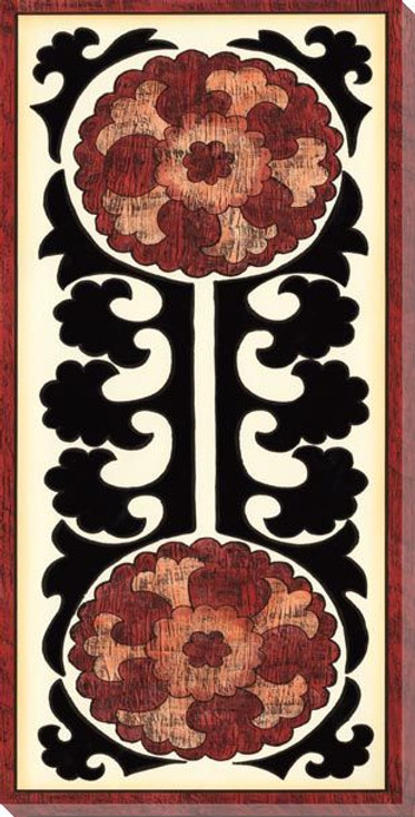 Suzani Panel II Wrapped Canvas Giclee Print Wall Art