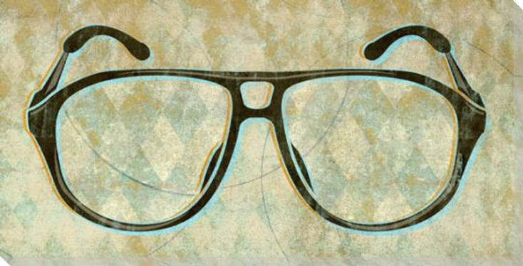 Bert's Glasses Wrapped Canvas Giclee Print Wall Art