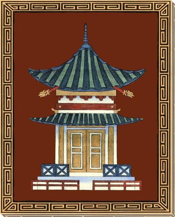 Pagodas III Wrapped Canvas Giclee Art Print Wall Art