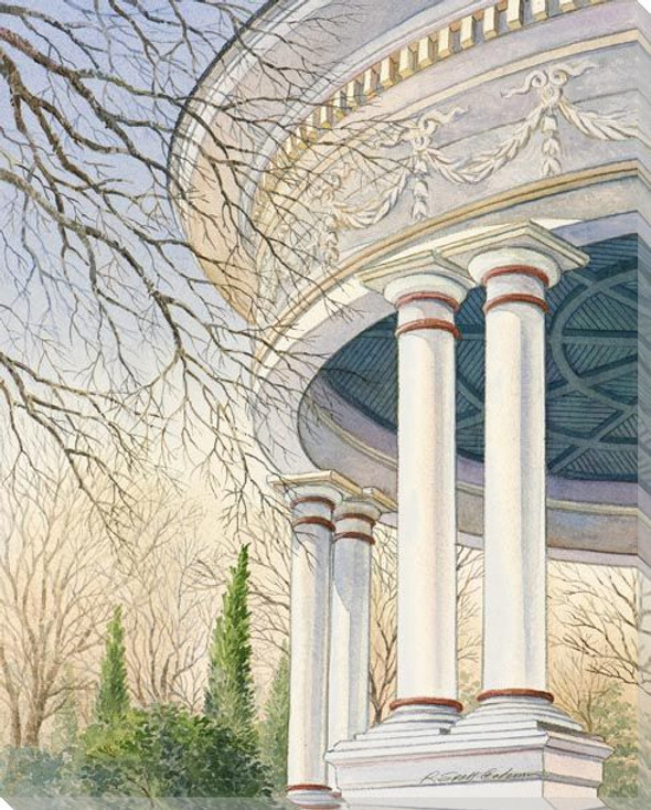House Columns Wrapped Canvas Giclee Art Print Wall Art