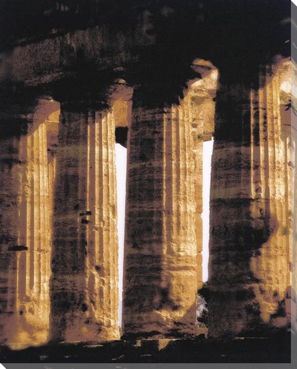 Pompeii Temple Wrapped Canvas Giclee Art Print Wall Art