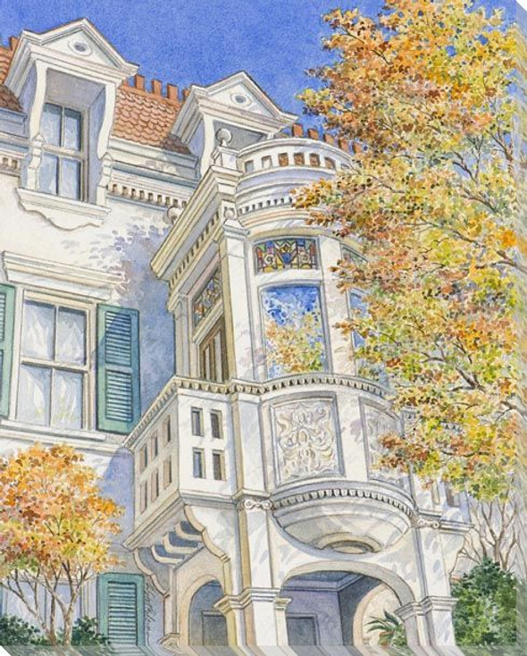 House Structure Wrapped Canvas Giclee Art Print Wall Art