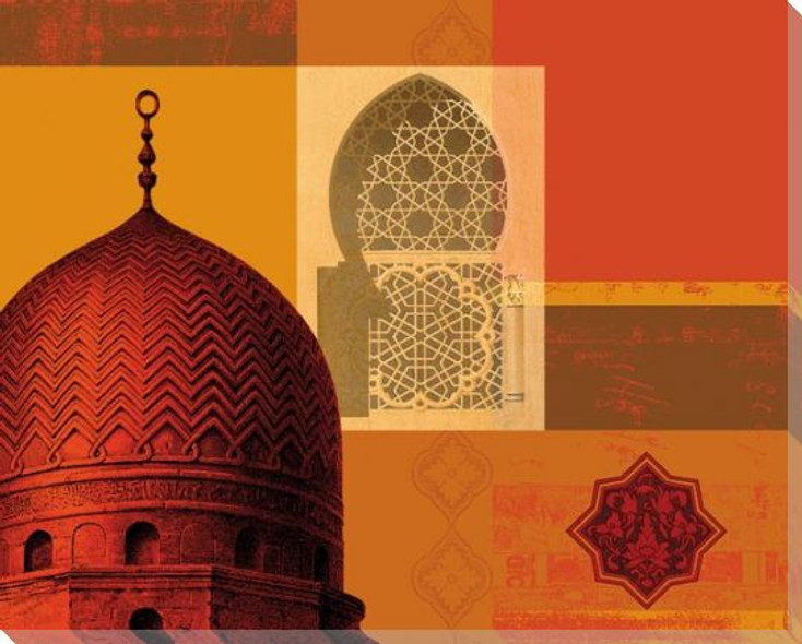 Domes of Marrakesh 1 Wrapped Canvas Giclee Art Print Wall Art