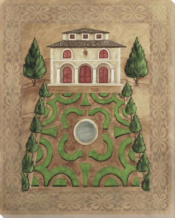 Venetian Mansion Garden Plan I Wrapped Canvas Giclee Print Wall Art