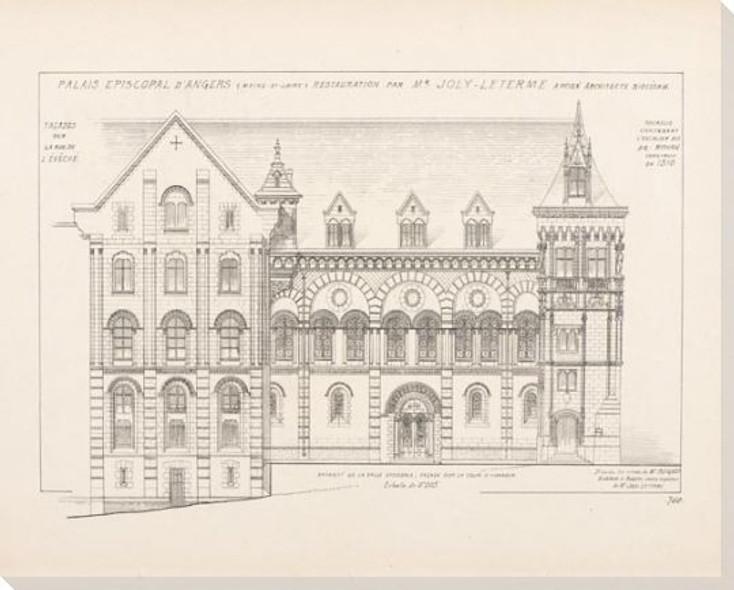 Palais Episcopal Dangers Plan 1 Wrapped Canvas Giclee Print Wall Art