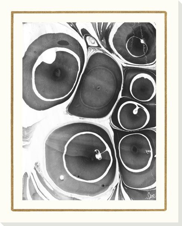 B & W Form III Wrapped Canvas Giclee Art Print Wall Art