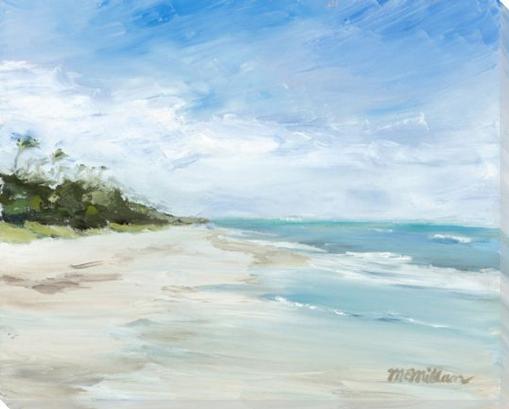 Before the Crowd Beach Scene 2 Wrapped Canvas Giclee Print