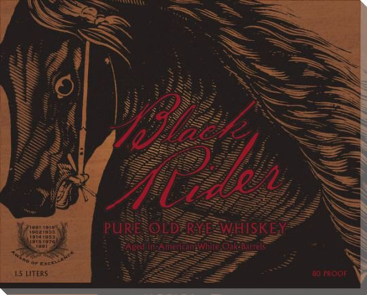 Black Rider Whiskey Wrapped Canvas Giclee Print Wall Art