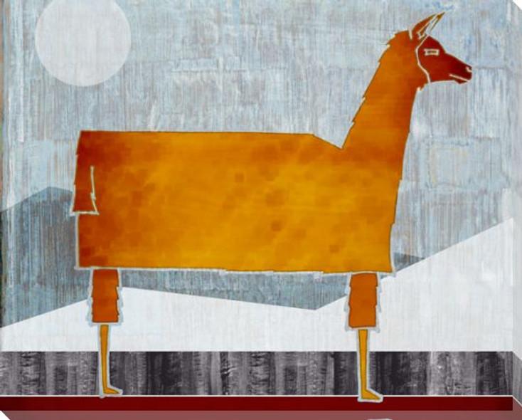 Farm Raised Llama Wrapped Canvas Giclee Print Wall Art