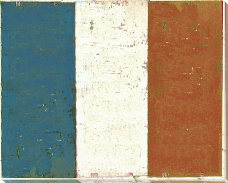 France: French Flag Wrapped Canvas Giclee Print Wall Art