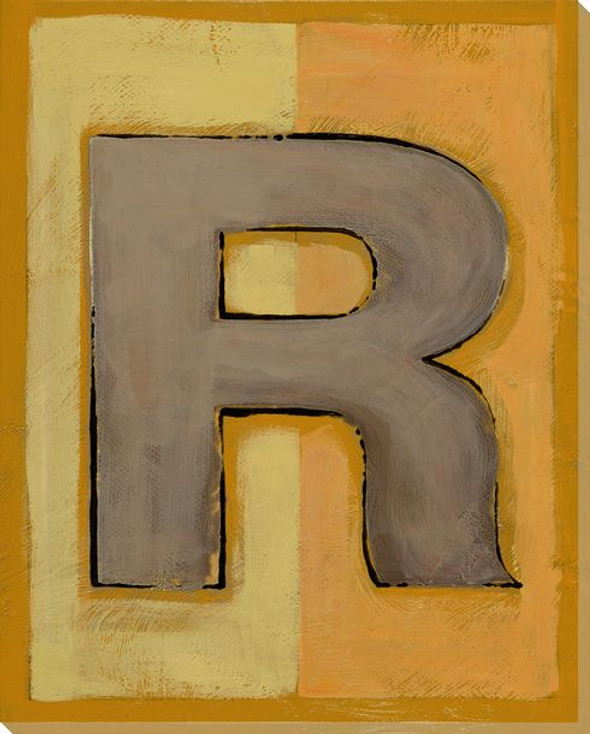 Block Letter R Wrapped Canvas Giclee Print Wall Art