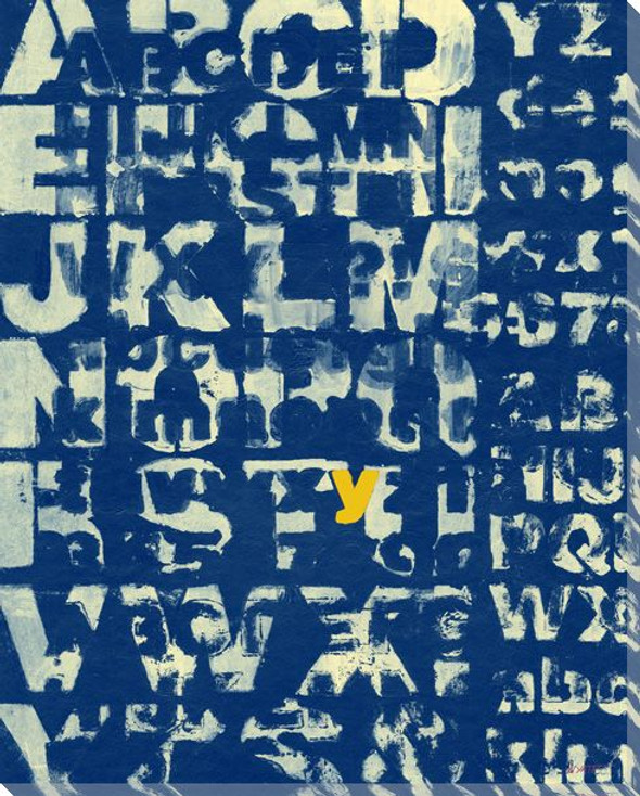 Blue Why? with Letter Y Wrapped Canvas Giclee Print Wall Art