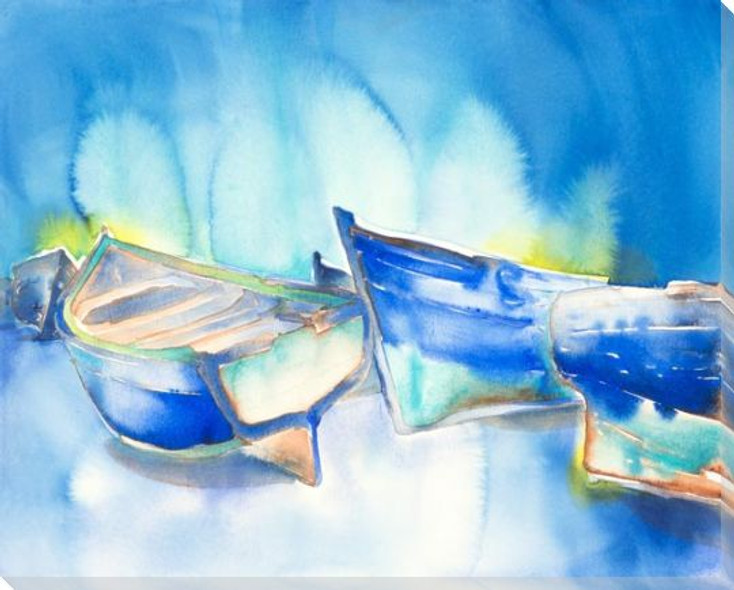 Boats Wrapped Canvas Giclee Art Print Wall Art