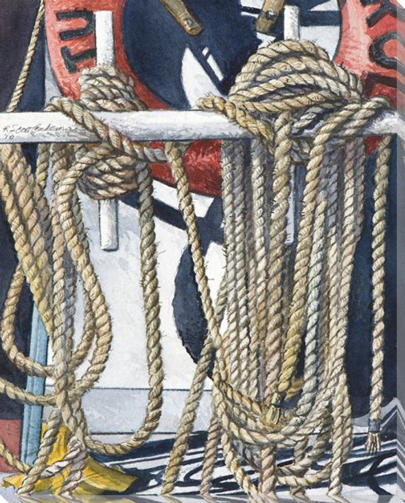 Boat Series 1 Number 6 Wrapped Canvas Giclee Print Wall Art