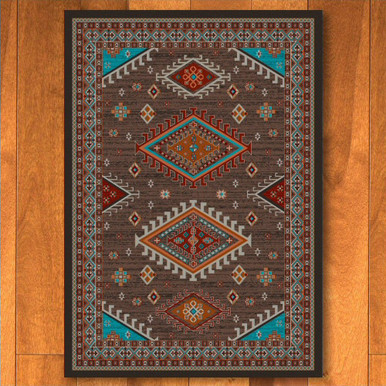 5 X 8 Persian Southwest Brown Rectangle Rug Floor Rug
