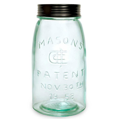Quart Mason Fruit Jar With Lid Food Storage Containers