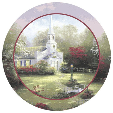Hometown Chapel Absorbent Beverage Coasters By Thomas Kinkade Set Of 8 Drink Coasters Thirstystone