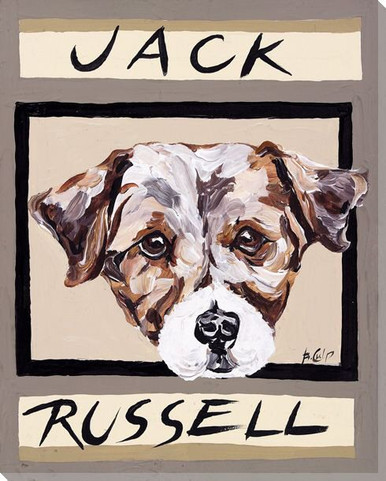 Jack Russell Dog Wrapped Canvas Giclee Print Wall Art Wall Decor Artwork