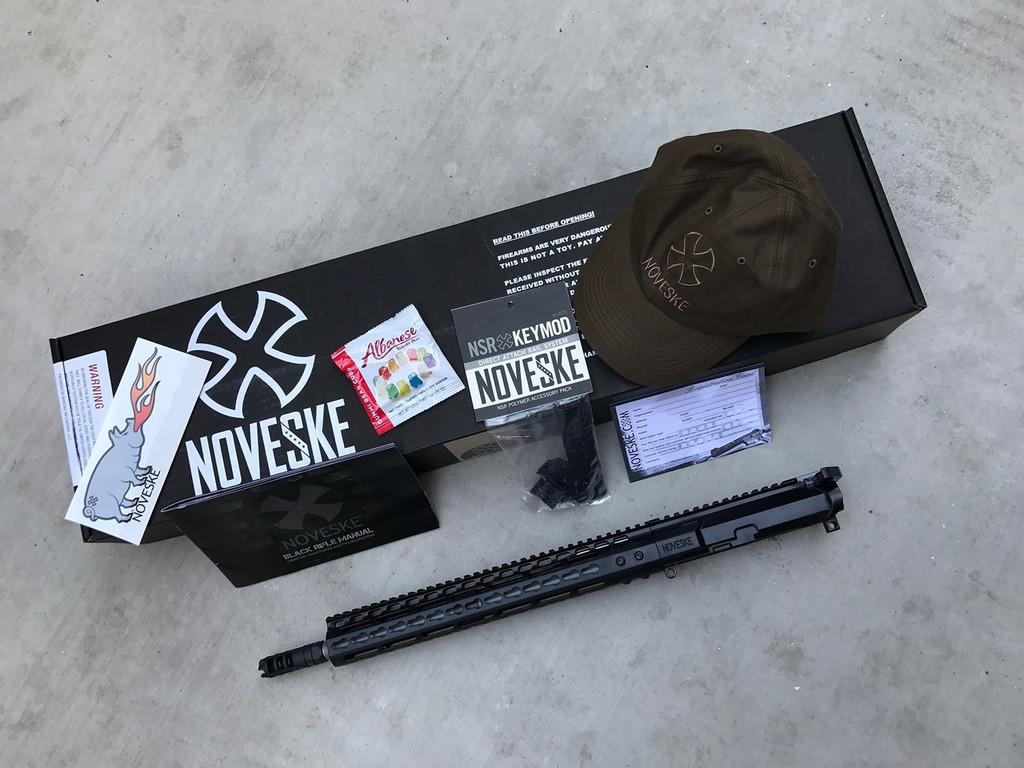 "Noveske 14.5"" Gen III Afghan 6.8 Upper, NSR-13.5, Super BADASS Charging Handle, Lantac Dragon 5/8-24 (Pinned/Welded - NON-NFA) - 6.8 SPC MOD 1 Noveske Match Chamber"
