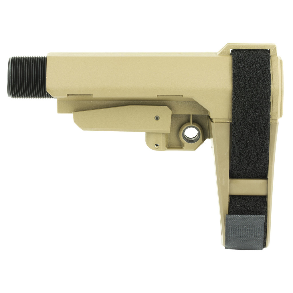 SB Tactical SBA3 Adjustable AR Pistol Brace - FDE