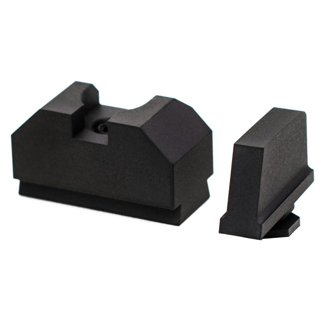 ZEV Glock Sight Set, .300 Black Front, Co-Witness Rear