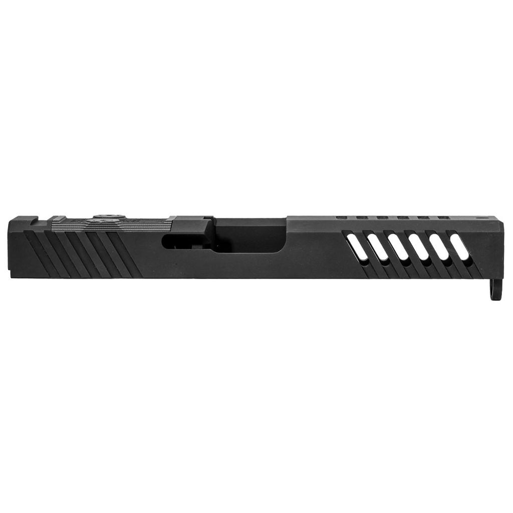 Grey Ghost Precision Glock 17 Gen 3 Stripped Slide, RMR Cut, V1 - Black Nitride