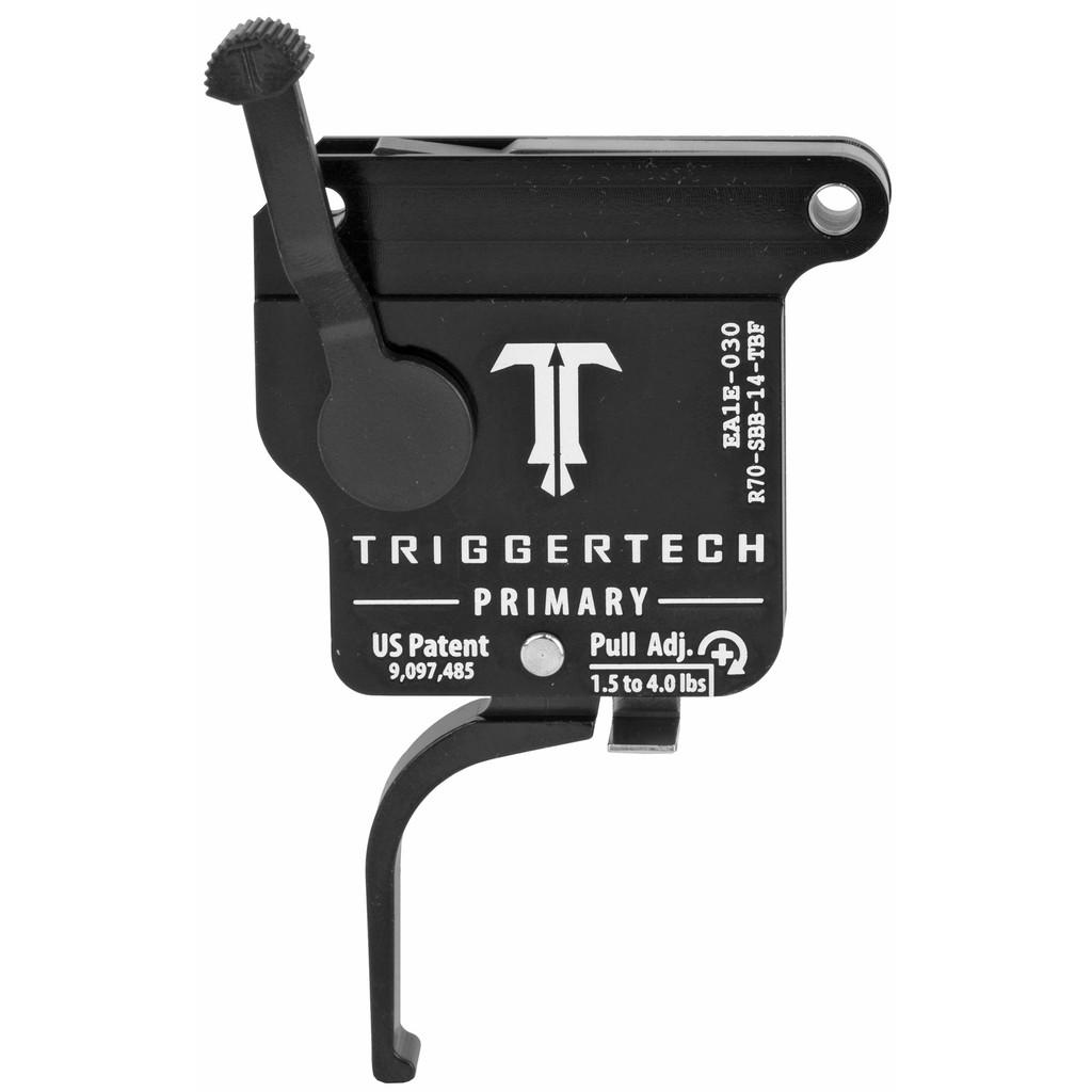 TriggerTech Rem 700 Primary Trigger, RH, Straight Flat Lever, Adjustable, w/ Bolt Release - PVD Black