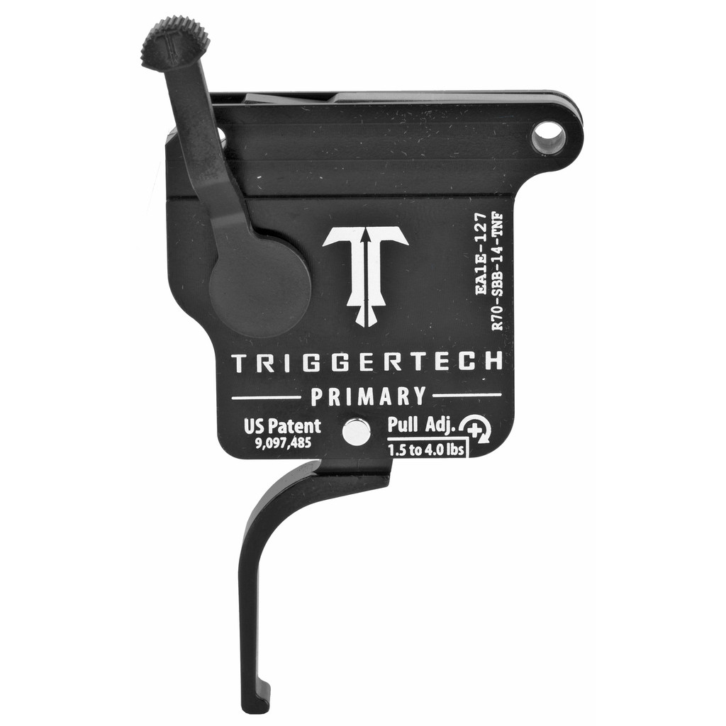 TriggerTech Rem 700 Primary Trigger, RH, Straight Flat Lever, Adjustable - PVD Black