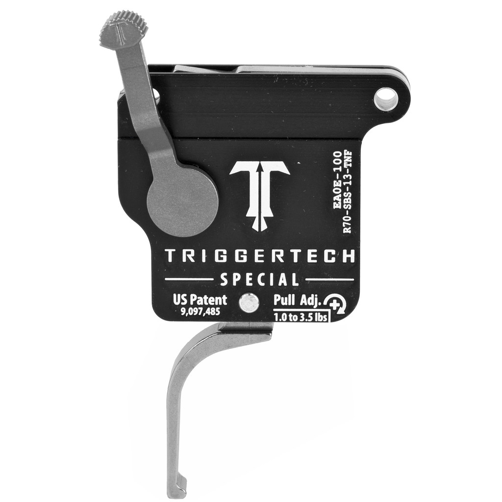 TriggerTech Rem 700 Special Trigger, RH, Straight Flat Lever, Adjustable - Stainless